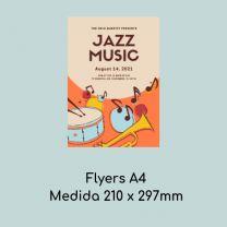 Flyers A4 (Medidas 210 x 297 mm)
