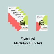 Flyers A6 ( Medidas 105 x 148 mm)