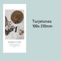 Tarjetón 100 x 210 mm