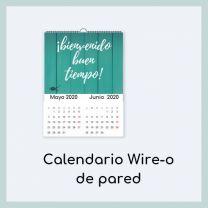 Calendario de pared con Wire-o