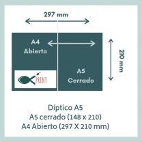 Dípticos A5 (148 x 210 mm)