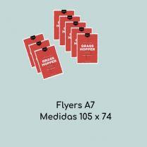Flyers A7 (Medidas 74 x 105 mm)