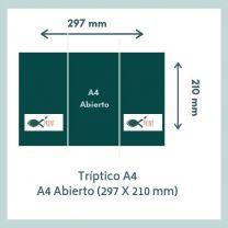 Triptico A4 Abierto (297 x 210 mm)