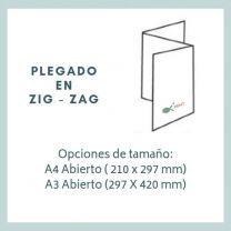 Tríptico A3 Abierto ( 420 x 297 mm)